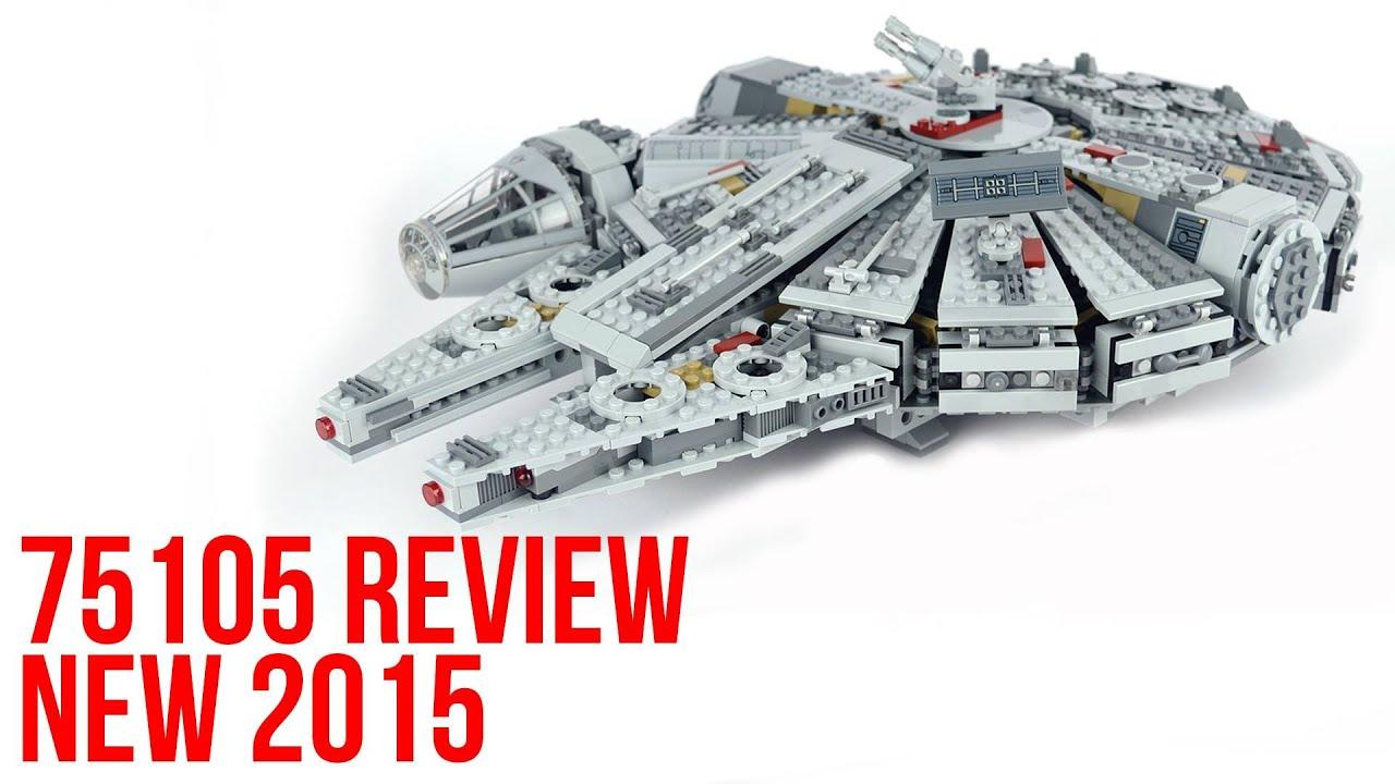 LEGO Star Wars Millennium Falcon 75105 Review & Time-Lapse Build 2015 ...