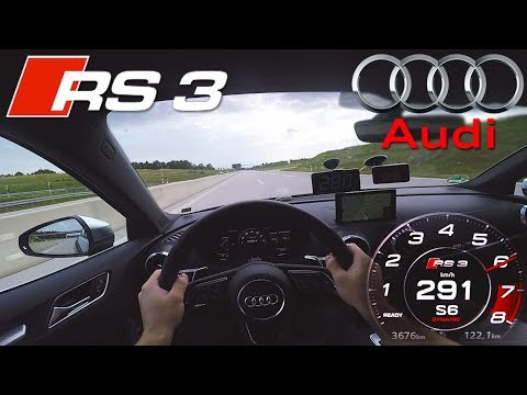 PERFECT! 2018 Audi RS3 Sedan (0-290km/h) POV- TOP SPEED, Acceleration TEST✔