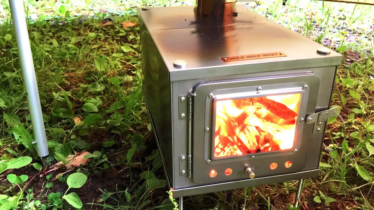 3w Tent Wood Stove Titanium For Backpacking First Set Up Youtube