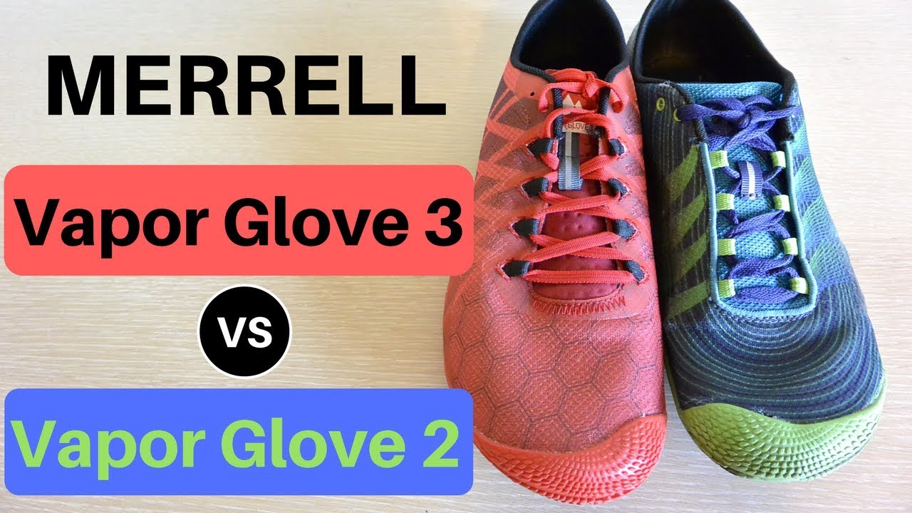 merrell trail glove vs vapor glove detail