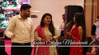 Best Anchor Shreya Maheshwari  hosting sangeet ceremony and having guest interactions
