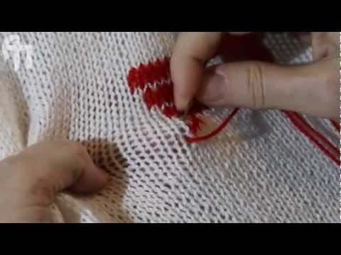 Трикотажный шов в вышивке