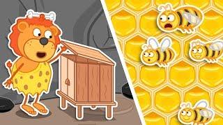 Lion Family 🍯 Jurassic World #2. Build House For Bees Cartoon For Kids