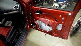 Как снять дверные карты на Lada Vesta (шумоизоляция часть 1)