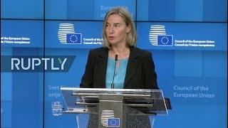 LIVE: Mogherini holds press conference at Foreign Affairs Council in Brussels