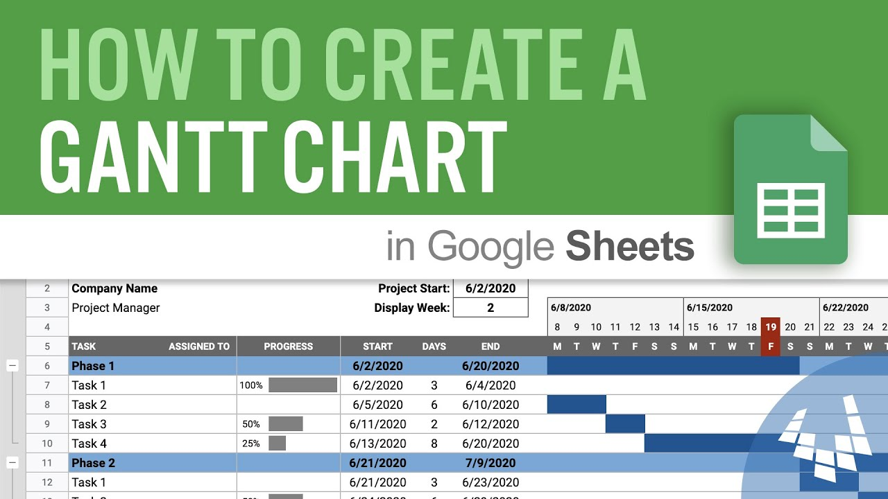 Free google slides theme and powerpoint template. How To Create A Gantt Chart In Google Sheets Youtube