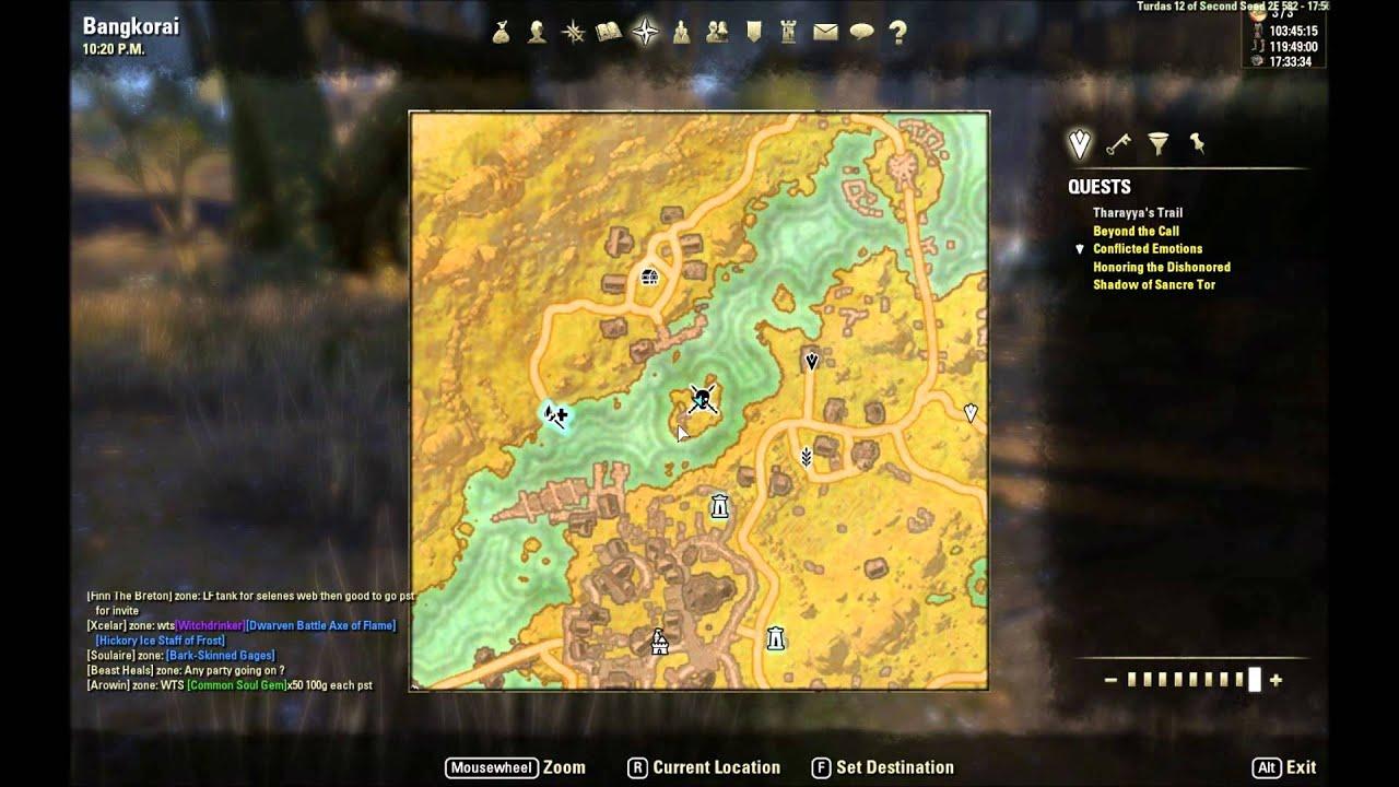 ESO: Bangkorai Treasure Map I Location - YouTube