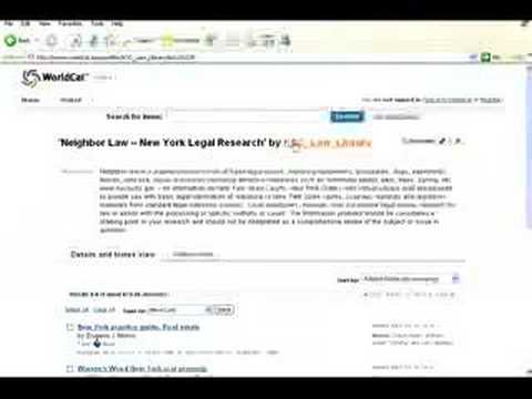 A Law Library's Use of WorldCat.org Lists
