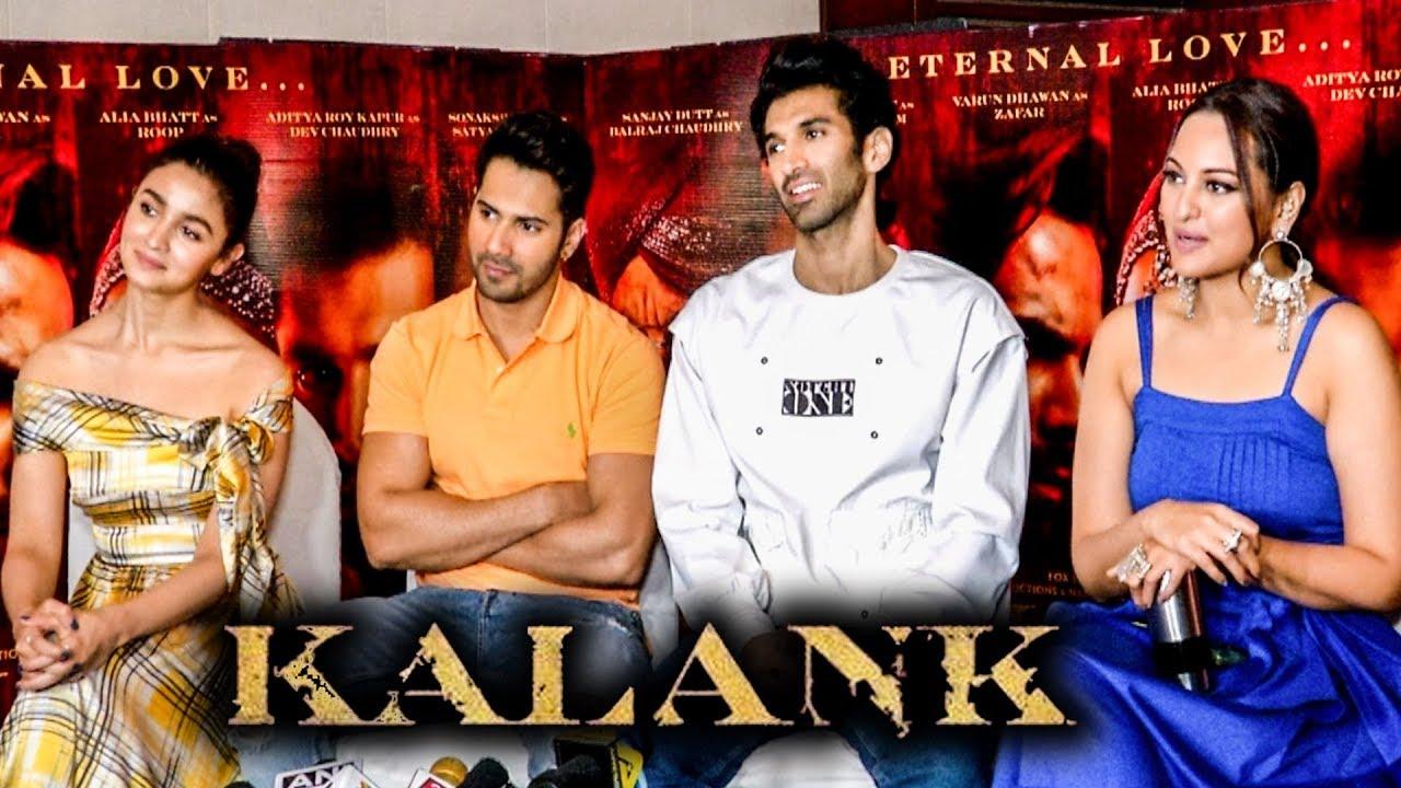 Varun Dhawan, Alia Bhatt, Sonakshi Sinha And Aditya Roy Kapur KALANK Promotions