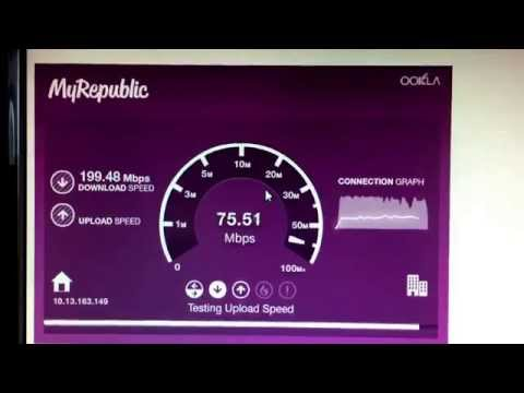 My Republic NZ Fibre 200/100 speedtest