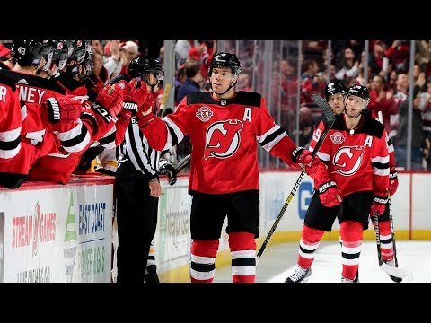 Taylor Hall has a hand in all four Devils goals
