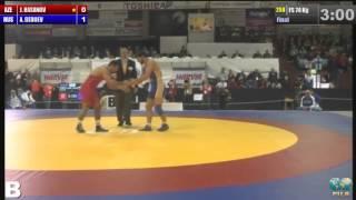 2014 European Wrestling Championships Final FS 74 Kg (AZE) Jabrayil HASANOV vs (RUS) Aniuar GEDUEV