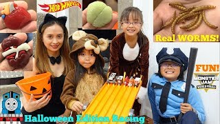 Hot Wheels Racing Halloween Edition 2018! Toy Car Racing Playtime! Thomas the Train and Monster Jam
