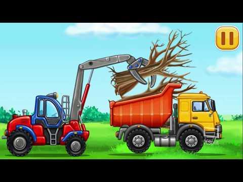 Игры для мальчиков: машинки для детей, конструктор, Трактор Для детей Build a house Развивающая