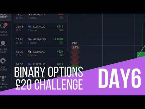 THE MARKETS ARE F**KED - DAY 6 - 20 Dollar Challenge DAY - Binary Options Trading LIVE session