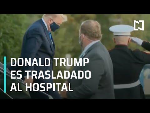 Así fue el traslado de Donald Trump al hospital tras dar positivo a Covid-19 - Las Noticias