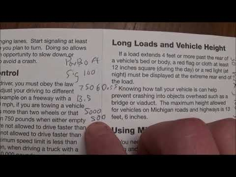 How to pass the Michigan Chauffeur License knowledge test easily