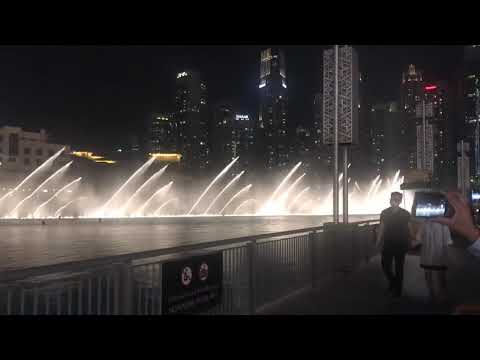 Dubai Mall fountain show on indian song 15 August 2020