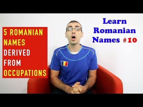 5 ROMANIAN NAMES DERIVED FROM OCCUPATIONS | Learn Romanian Names #10
