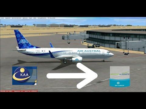 Vol commenté Kenya(HKJK)-Mayotte |737-800 Advanced VC Air Austral| #2 (FSX)