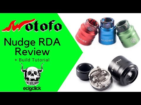 WOTOFO NUDGE 24MM RDA REVIEW + Build Tutorial! - Co-designed by Suck My Mod!