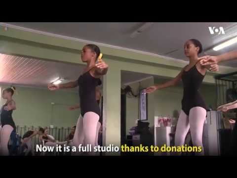 Ballet school in Rio de Janeiro's most violent shanty town gives Brazilian girls a chance to dance.