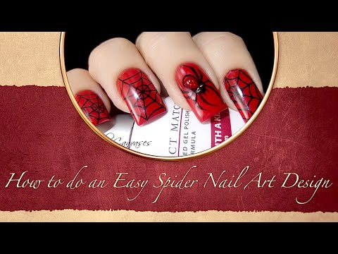How to do an Easy Spider Nail Art Design