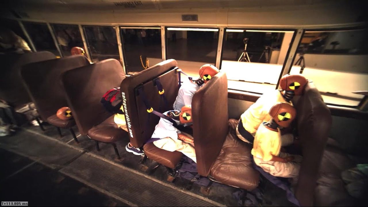 School Bus Seat Belt Safety Questioned After Crash Tests