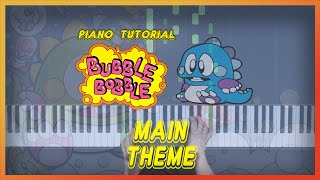 """How to play """"MAIN THEME"""" from Bubble Bobble    Smart Game Piano   Video Game Music"""