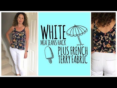 White Mia Jeans Hack