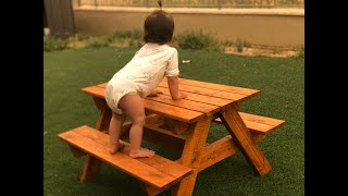 איך בונים שולחן פיקניק לילדים - מדריך נגרות