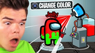 USING A COLOR CHANGE MACHINE In AMONG US! (Cheat)