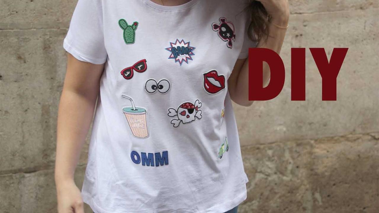 ffad3d93b06e2 DIY Camiseta con parches - YouTube
