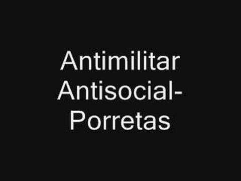 antimilitar antisocial porretas