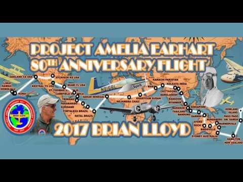 Project Amelia Earhart 80th Anniversary Flight Brian Lloyd Oakland 31 July 2017