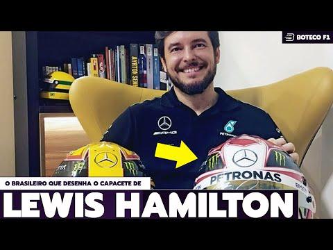O Homem que Desenhou o NOVO CAPACETE de LEWIS HAMILTON
