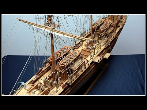 Largest THERMOPYLAE Clipper Tall Ship (Cutty Sark's Rival) scratch built 1:64 rare [Full Screen]
