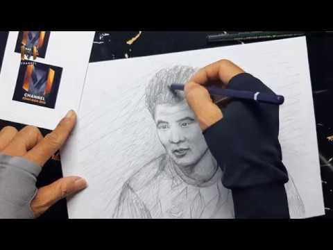 Vẽ tranh Hà Đức Chinh bằng bút chì tuyệt đẹp I Cầu thủ Hà Đức Chinh I MChannel