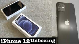 iPhone 12 unboxing( black)  #shorts#