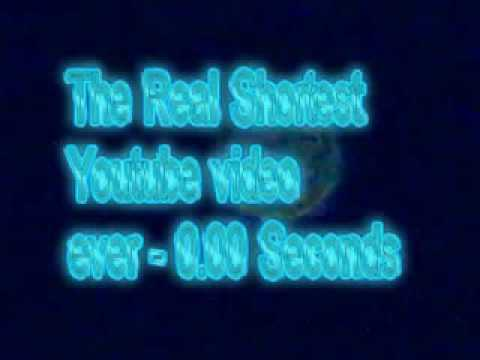 The absolute shortest video on youtube - negative seconds