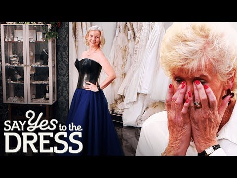 Bride Shocks Mum With a Leather Wedding Gown! | Say Yes To The Dress UK. http://bit.ly/2JHxj9e