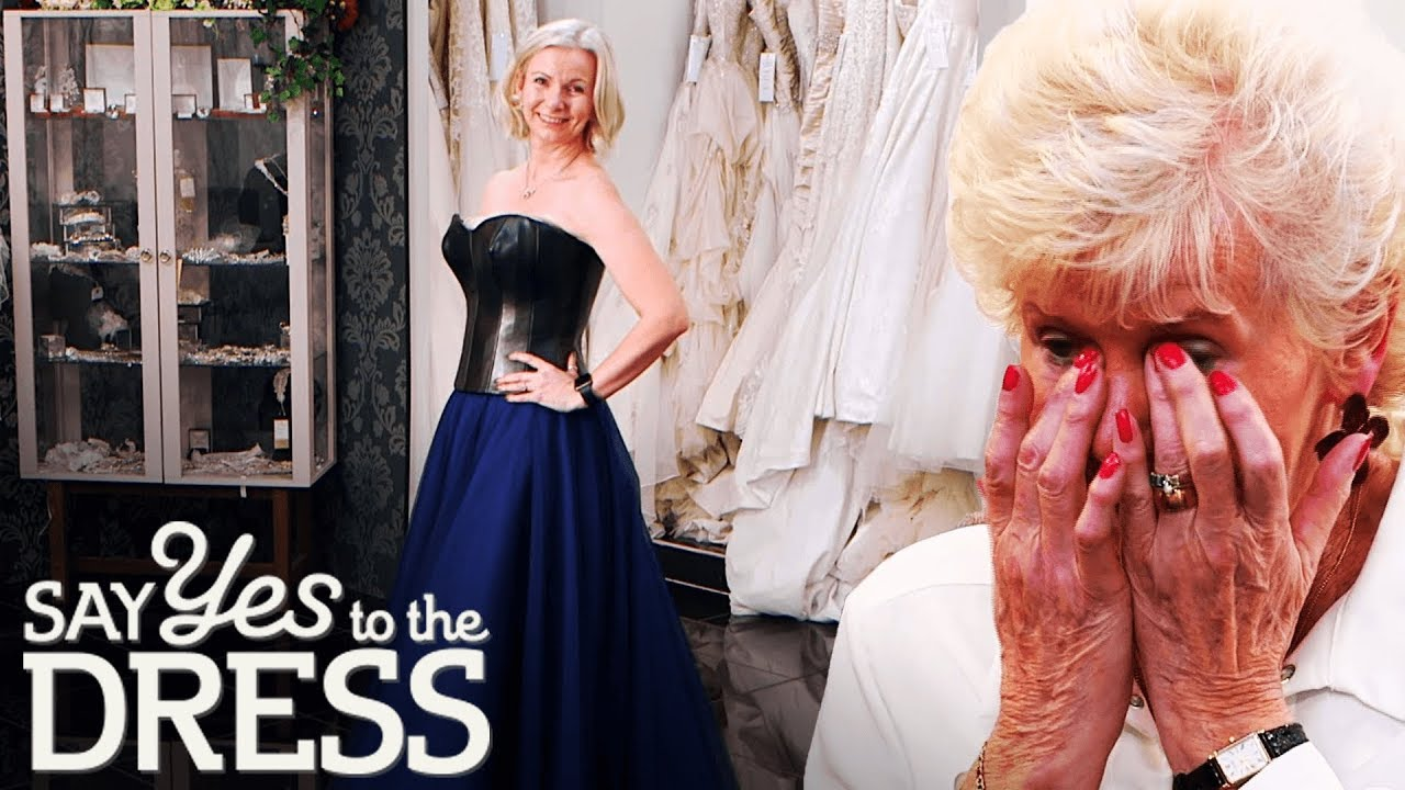 Bride Shocks Mum With A Leather Wedding Gown!