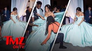 Cardi B's Dress At Rihanna's Diamond Ball Was A Lot To Handle | TMZ TV