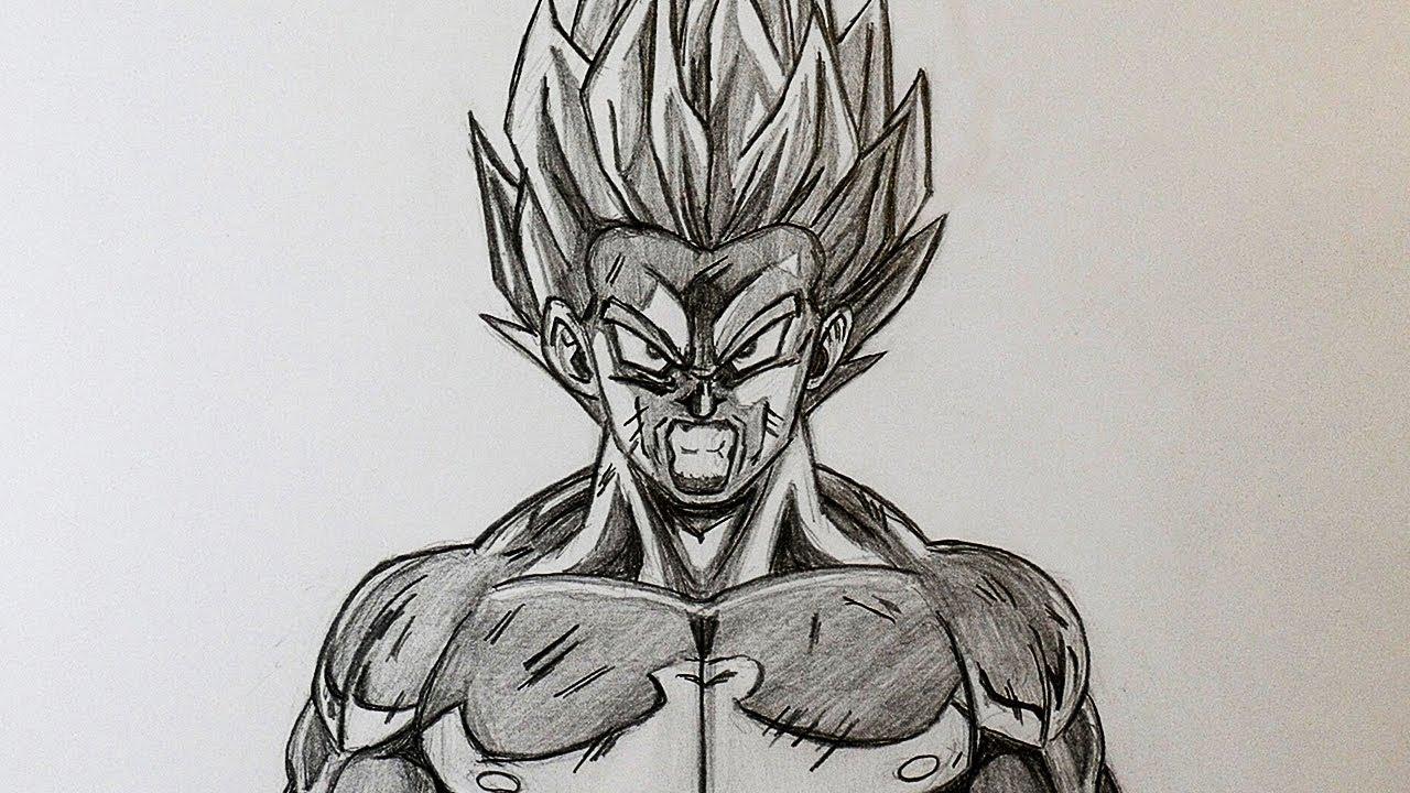Drawing son goku ssj1 dragon ball z super android 13 pencil drawing
