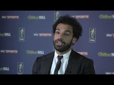 Mo Salah interviewed as he collects Footballer of the Year