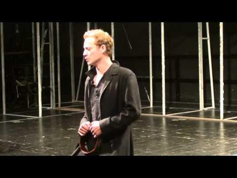 Itay Tiran - open rehearsal Shakespeare's Richard II, Act III, scene ii.