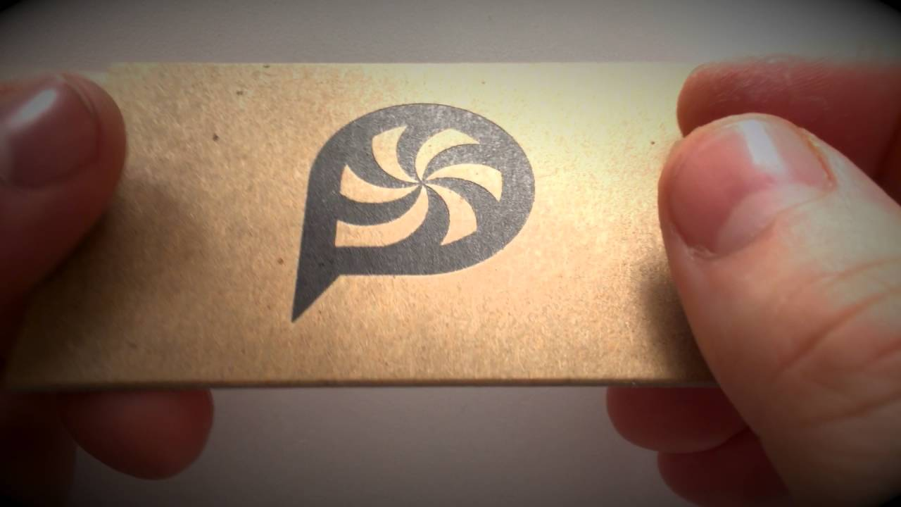Letterpress business cards on 42 pt recycled kraft chip board - YouTube