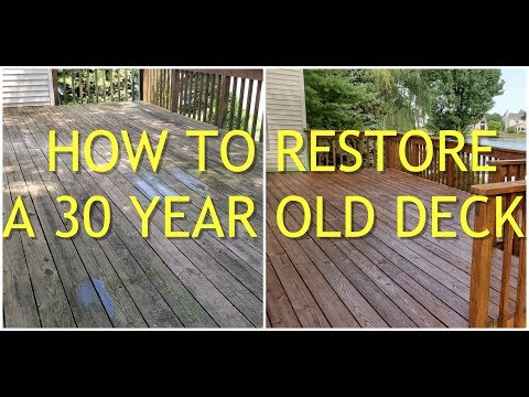 How To Restore A 30 Year Old Deck