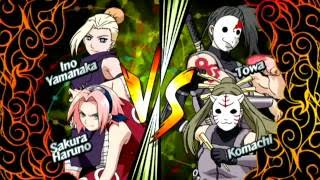 Naruto: Clash of Ninja Revolution 2 | Sakura & Ino vs. Komachi & Towa