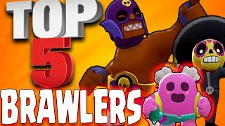 Top 5 BEST BRAWLERS in BRAWL STARS (BETA) #BRAWLSTARSANDROID
